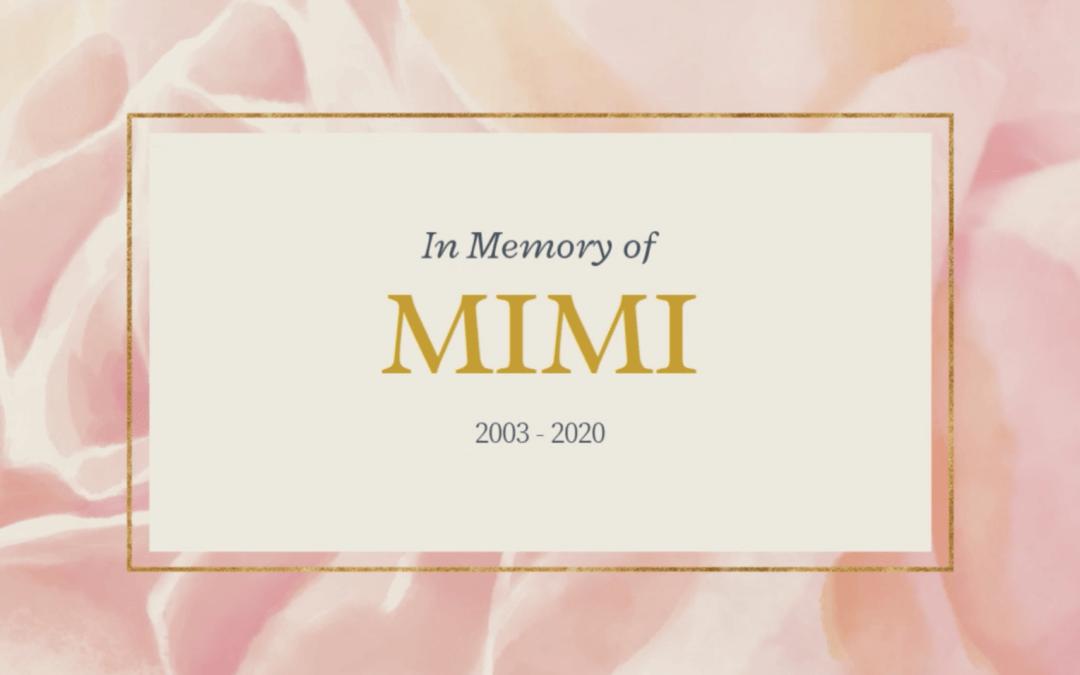 A Memorial for Mimi